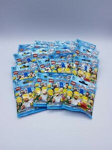 LEGO SERIE COMPLETE 16 FIGURINES SERIE 1 SIMPSON  REF 71005 *SACHETS OUVERTS*