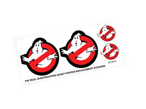 THE REAL GHOSTBUSTERS REPLACEMENT STICKERS for KENNER Ghost Popper + extra's
