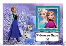 Plaque de porte sur bois Reine des neiges  N° 24  avec prénom ou texte