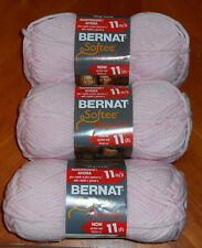 Bernat Softee Chunky Yarn Lot Of 3 Skeins (Baby Pink #28418)