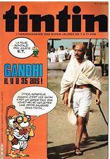 B18- Tintin N°385 Gandhi il ya 35 ans