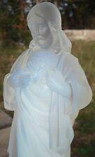 Jésus Christ Sacré Coeur Verre Opalescent ETLING FRANCE