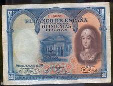 Spain 500 Pesetas 1927 Isabel the Catholic @ Very Beautiful @