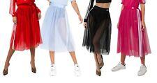 adidas Originals Womens Tulle Mesh A-Line Tutu Midi Skirt XS S M L
