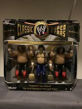 WWE Jakks Classic Superstars Wild Samoans w/ Cpt. Lou Albano. Rare.
