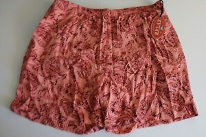 Tommy Bahama Relax Men's L Swim Trunks Board Shorts Mesh Lined Orange Coral