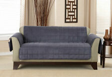 Sure Fit Deluxe Loveseat Furniture Cover Non-SlipPaws & Pockets Storm Blue Color
