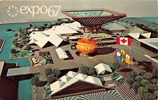 MONTREAL CANADA EXPO67~SCALE MODEL~CANADIAN PAVILION~KATIMAVIK POSTCARD 1967