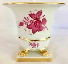 """Herend, Chinese Bouquet Raspberry, 5""""T. Claw Footed, Urn Vase, 6402 /AP. Vintage"""