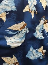 Angel Wings Spiritual Religious Christmas Cotton Fabric BTHY