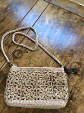 womens handbags and purses/the sak Straw Floral Shoulder Bag