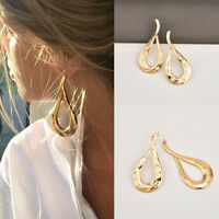 Fashion Jewelry Metal Statement Dangle Drop Big Gold Geometric Stud Earrings