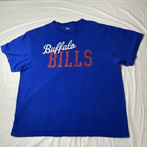 Buffalo Bills Unisex Large T Shirt 2012 by Junk Food Blue Cursive Design Graphic