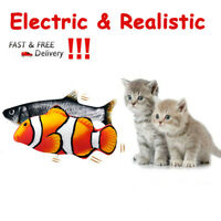 Cat Toys Wagging Fish Electric Realistic Fish Plush Simulation Interactive Fish