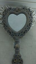 Romántico Espejo de mano Espejo Barroco Espejo de tocador Shabby Corazón