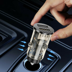 1x Car USB 3.4A 2Ports Cigarette Phone Charger Lighter Fast Charging Accessories