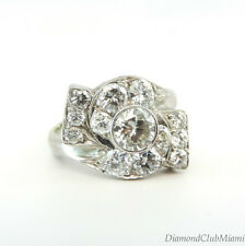 Antique 1.65ct Diamond 14kt Gold  Filigree Ring 4.0 Grams
