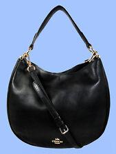 COACH  36026 NOMAD Black Glove  tanned Leather Hobo Shoulder Bag Msrp $495.00