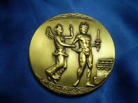 GREECE - GENUINE 2004 OLYMPIC GAMES ATHENS - TORCH RACE -  BRASS  MEDAL