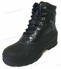 Mens Winter Boots Leather Waterproof Hiking Thermolite Insulated Warm Snow Shoes