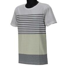 Oakley PRIMARY CREW STRIPE 1 T-Shirt Size M Medium Lemon Light Mens Cotton Tee