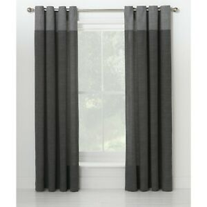 """Pair Ready Made 90""""x90"""" Eyelet Unlined Dublin Charcoal Curtain Living Bed Room"""