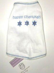 Happy Chanukah Dog Tee Shirt Short Sleeve
