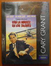 Con la muerte en los talones [Libro DVD] Alfred Hitchcock, Cary Grant ¡¡NUEVO!!