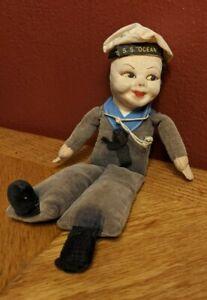 Vintage S.S. Ocean Souvenir Sailor Doll by Norah Wellings