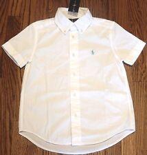 POLO RALPH LAUREN AUTHENTIC BOYS BRAND NEW ORIGINAL WHITE DRESS SHIRT Sz 4T, NWT