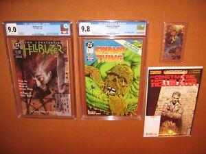 Hellblazer #1 CGC 9.0 Swamp Thing #67 CGC 9.8 WHITE pages BONUSES! 12pix INSURED
