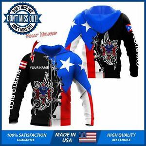 Puerto Rico Hoodie - Personalized Pride Puerto Rico Flag Hoodie 3D Puerto Rican