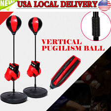 Kids Punching Toy Set Exercise Adjustable Stand Boxing Glove Speed Ball +Gloves