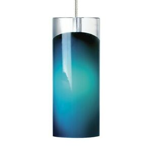 Tech Lighting Horizon 1 Light MO Pendant, Satin Nickel/Blue - 700MOHRZUS