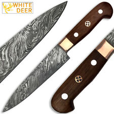 White Deer Forged Paring Knife Pro Chef Cutlery Damascus Steel 1095 HC  Kitchen