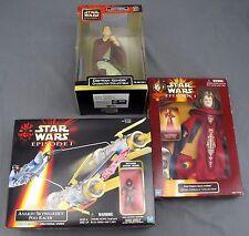 Star Wars Episode 1 Obi-Wan Kenobi Queen Amidala & Anakin Pod Racer w/ Figure