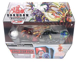 """Bakugan """"Armored Alliance"""" Sabra x PyRavian Baku-Gear Pack Howlkor x Serpenteze"""