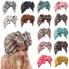 Turban Bowknot Floral Girls Caps Hair Band Baby Hat Hats For Kids