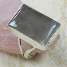 """Labradorite 925 Silver Plated Ring US Size 8.5"""" ST-13753"""