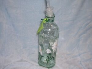 The Kitchen Bottle by Garden Party of Vermont, Hand Painted Daisies, Oil Bottle