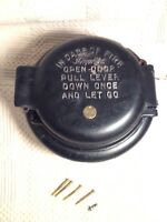 Antique Holtzer-Cabot Fire Alarm Box cast iron architectural industrial safety