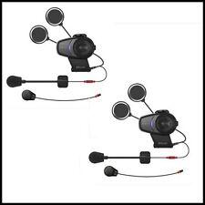 New Sena 10S Bluetooth Motorcycle Intercom Universal Headset - Dual Pack