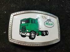 "Vintage MACK Green Truck Belt Buckle 3-1/4"" X 2-1/4"""