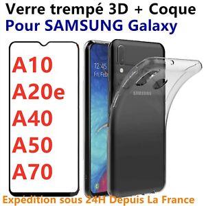 Coque TPU + Verre Trempe Protection 3D Pour Samsung Galaxy A10 A20e A40 A50 A70