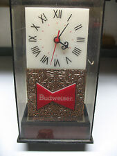 BUDWEISER  BAR TOP    ELECTRIC   CLOCK   9 & 1/4''  TALL  ITEM  004-021