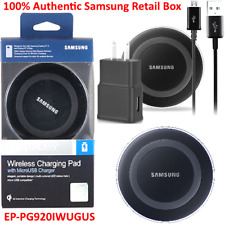 Genuine Qi Wireless Charging Pad for Samsung Galaxy S6 S7 Edge Note 5 s7 Black