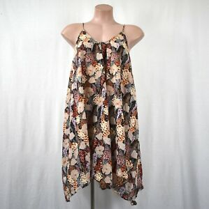 Zimmermann Relaxed Strappy Floral V Neck Swing Dress Size 0