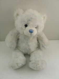 """Build A Bear White & Frosted Blue Plush Soft Bear - 14"""" Plays Cat Sound (395)"""