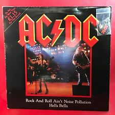 "AC/DC Roll & Roll Ain't Noise Pollution 1980 UK 12"" VINYL single + BADGE K11630T"