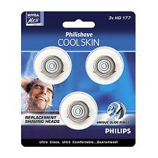 PHILIPS PHILISHAVE HQ177 COOLSKIN SHAVER ROTARY RAZOR HEAD BLADE SET